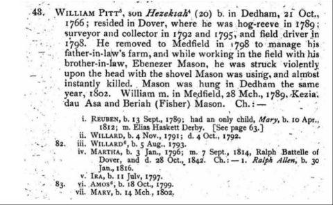Excerpt from Genealogy of William Pitt Allen